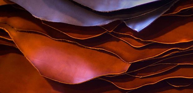 Vegetable tanned Vachetta leathers from Artigiano del Cuoio, Italy