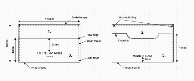 Drawing of Hattrick Cardholder