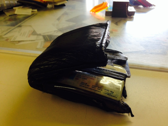 Wallet from another era. If your wallet looks like this we need to talk.
