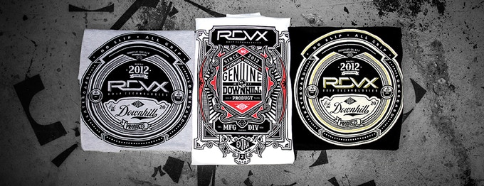 Tees to Choose From (Left to Right): grey RDVX Logo Classic, white RDVX Genuine and black RDVX Logo Classic tshirts.