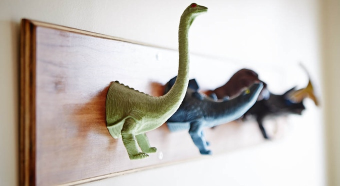 Make this dinosaur coat rack.