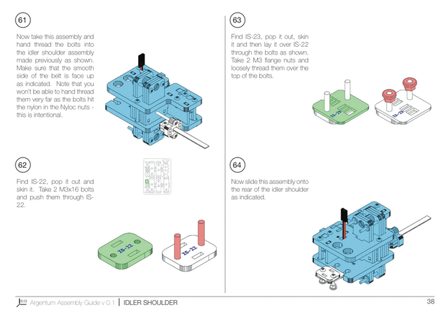 Page from the Argentum assembly instructions