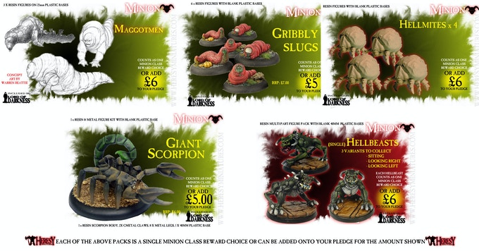 To save scrolling I have montaged various Minion Class rewards into groups, click for a bigger look at the various creature Minion rewards, ideal for Madame Ner'Gabba or any other Fallen One...!