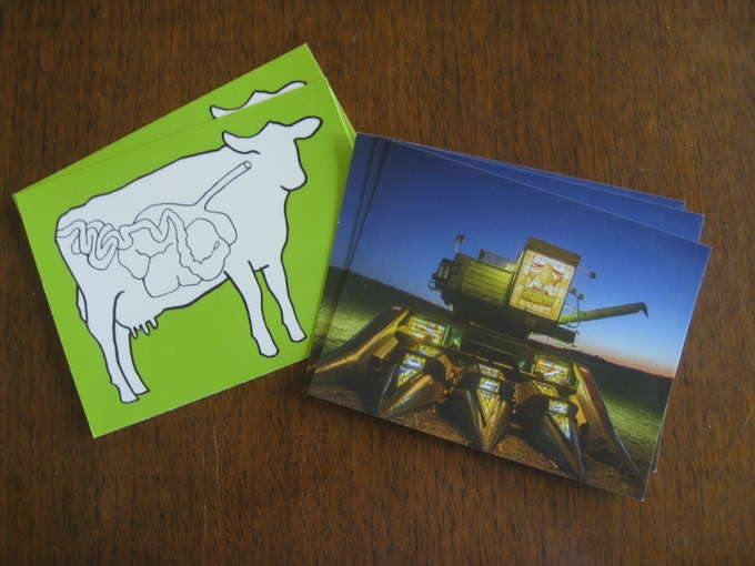 Ruminant-themed postcards