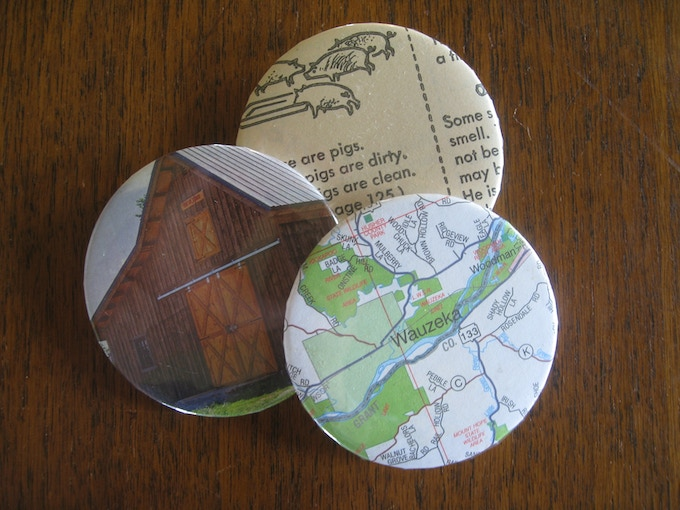Sample of agriculturally-themed buttons