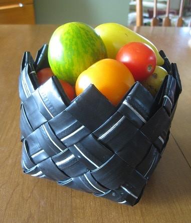 Small handmade upcycled basket