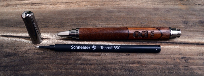 The Schnieder topball 850 offers a world class writing experience.