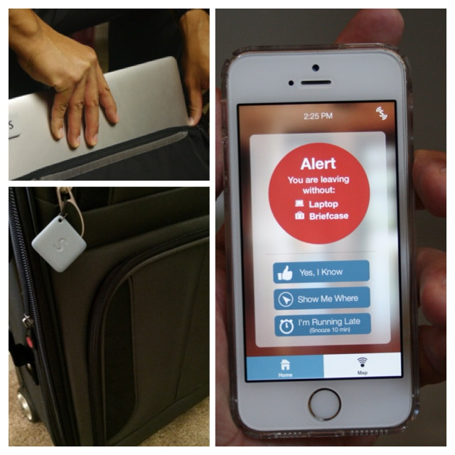 Tag luggage, computers, or any other necessities to an event on your calendar.  You will get a reminder if you depart missing anything!