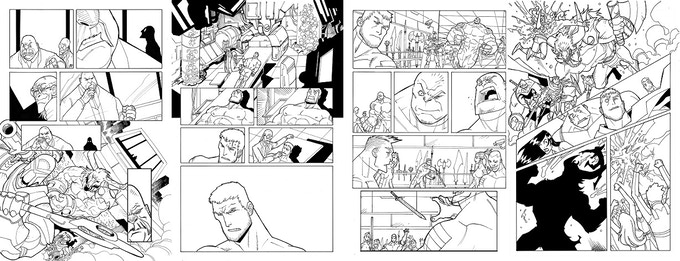 Issue #1 Original Pages 3, 4, 9 & 16 by Jerry Gaylord