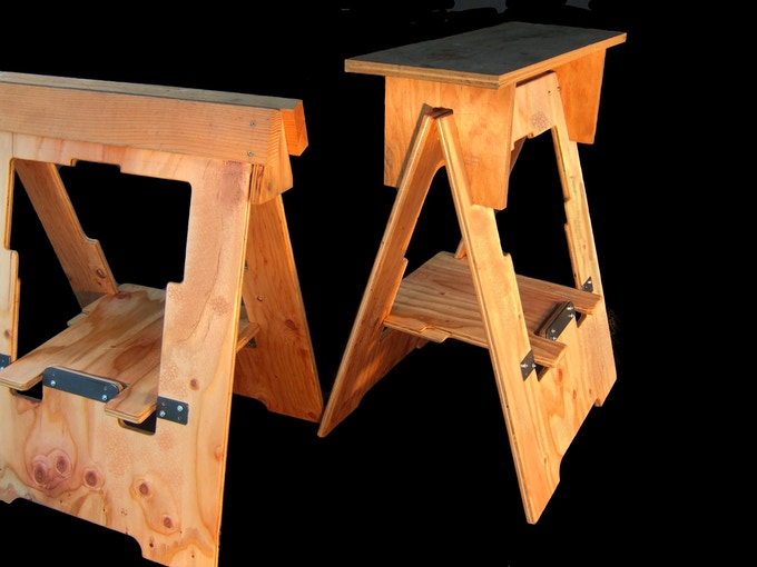 Morhorse Folding Sawhorses On Steroids By Barclay Moore