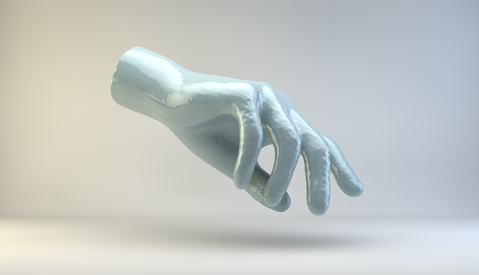 Jeremy Bailey, Famous New Media Artist's Hand, 2014. 3D Print, edition of 10.