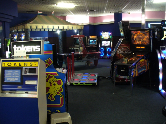 One shot of the interior of my current arcade.