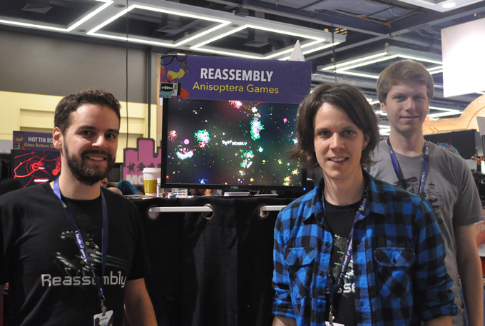 Peter, Arthur and Colin at the Minibooth at PAX.