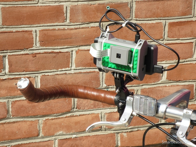 You can use GoPro® mounts to attach the Pi and camera to a bike to take action footage.