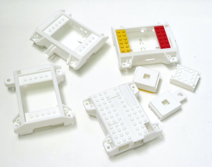 3D printed prototypes printed with shapeways,com printing service.