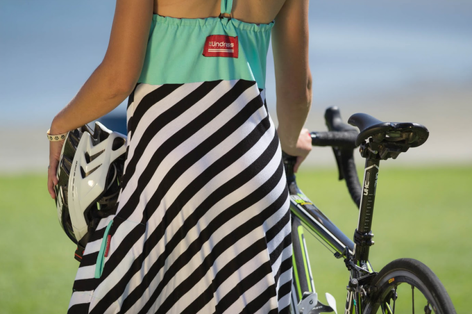 "The Undress in ""Mint & Stripes"" is perfect post-ride."