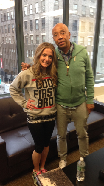 iamafighter Founder & CEO, Trisha Wiles, and Russell Simmons
