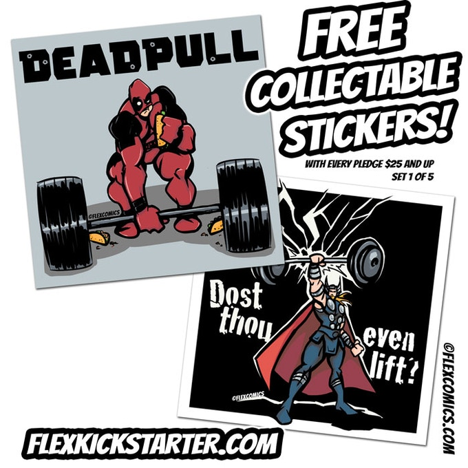 UNLOCKED: Flex Comics Sticker Pack 1 of 5