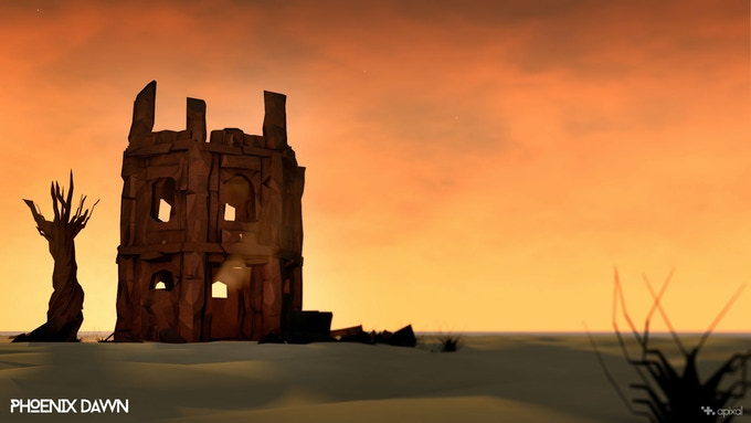 The World of Phoenix Dawn - Desert Ruin at Dusk