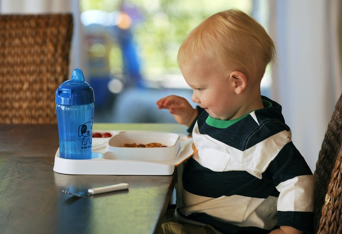 Baby can't toss, spill or throw it!  Designed for at home or on the go.