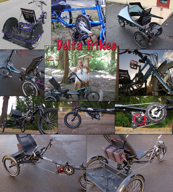 A great daily commuter, the Delta Trike