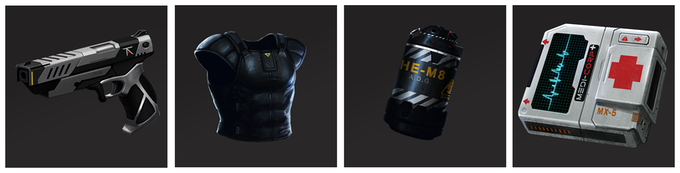 A few of the items for you to loot and power up your team!