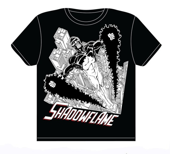 Shadowflame t-shirt with art by John Byrne!