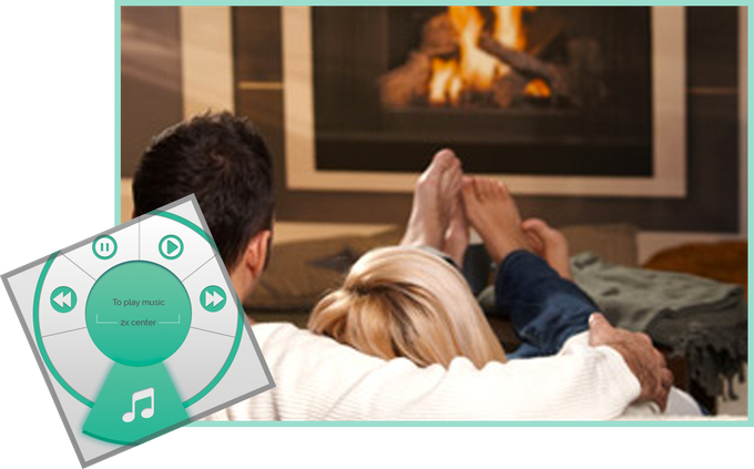 Set the mood with the press of a button by wirelessly controlling your favorite music player from afar.