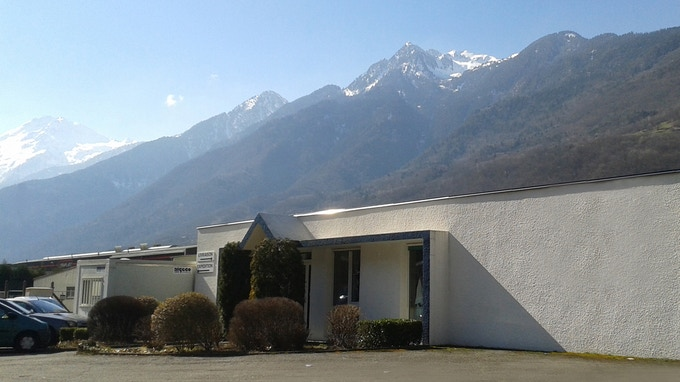 Production line located in beautiful French Alps