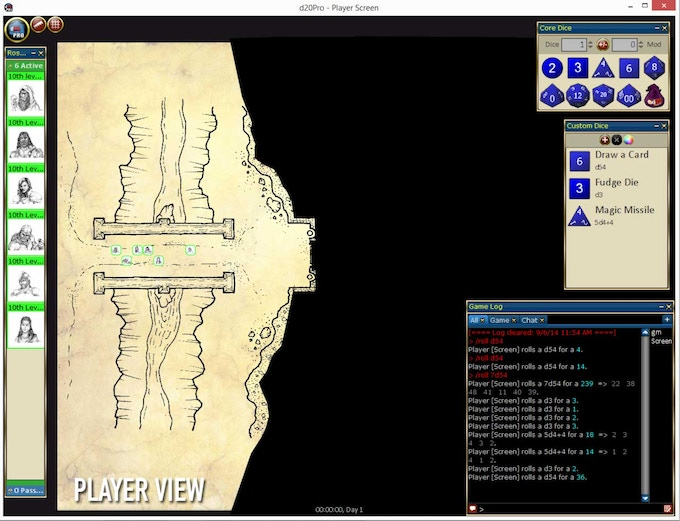 Player View in d20Pro (Legacy)