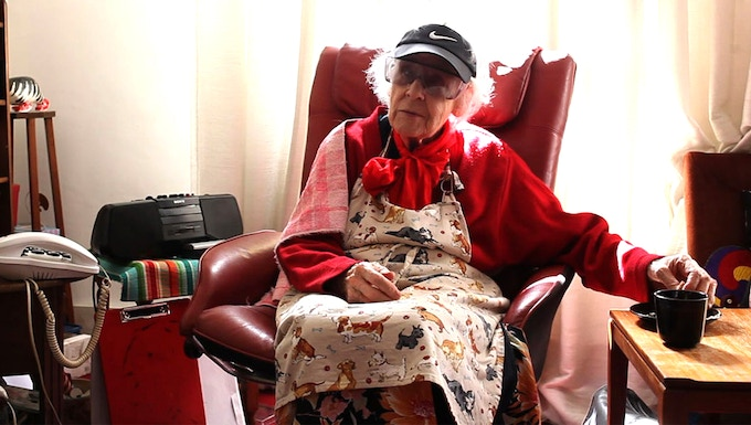 90 year old mini-cymbalist Peggy Scott is the orchestra's most treasured member