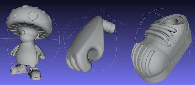 3D models of FUN GUS