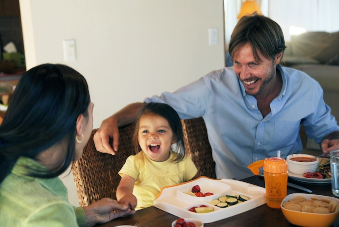 Lock-on Table Tray is a great way to bring babies, toddlers and pre-schoolers to the dinner table.