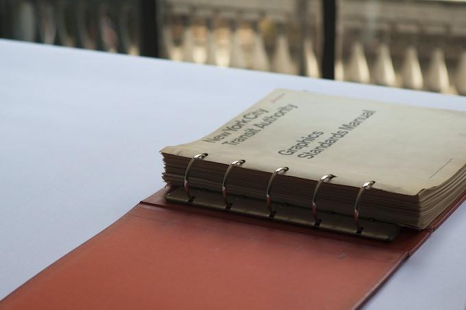 The original Manual showing ring-binding.