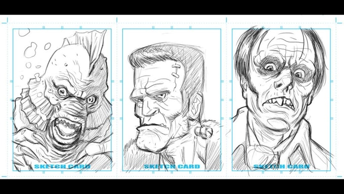 Monster sketch cards by Karim Whalen are available!