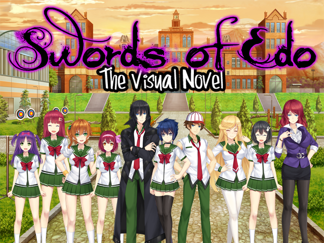 Characters from the visual novel game