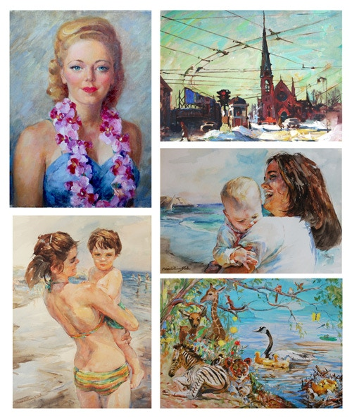 Greeting Cards of paintings by Marian Williams Steele