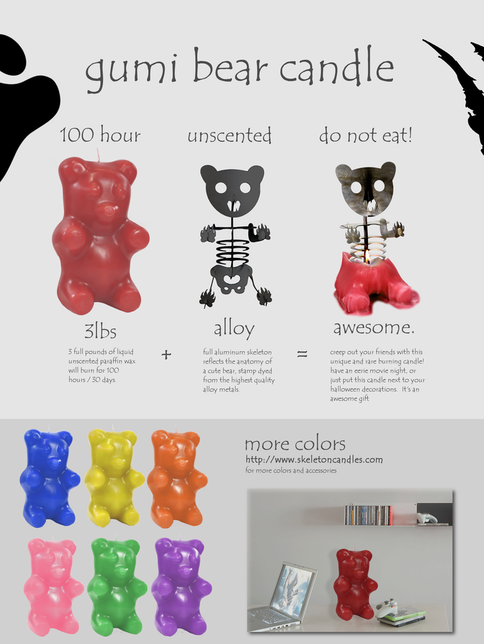 Gummi Bear Skeleton Candle by Skeleton Candles — Kickstarter