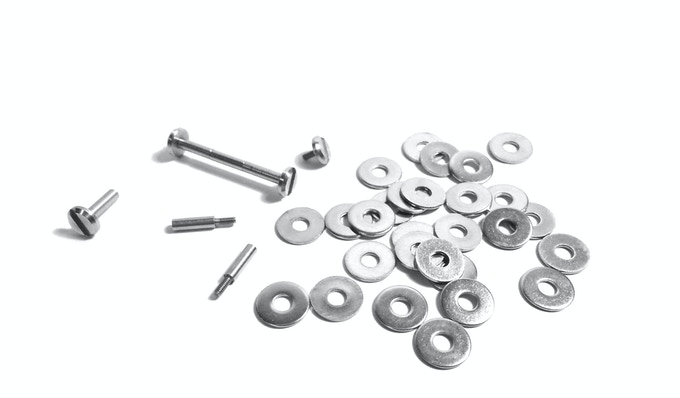 All Keystones come with specially machined stainless steel screw posts, post extensions and spacers to hold up to 20 of your keys.
