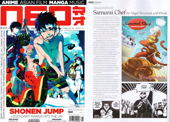 Samurai Chef Volume 1 in NEO Magazine