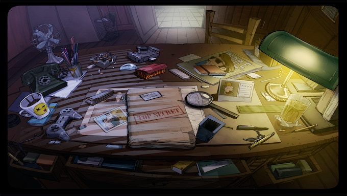 Dog`s Desk (Screen Shot from the Game)