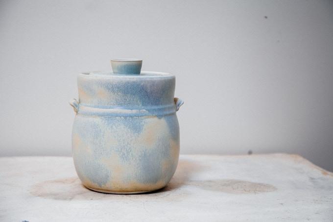 Vegetable Fermentation Jar in Matte Blue: $300 Reward Level