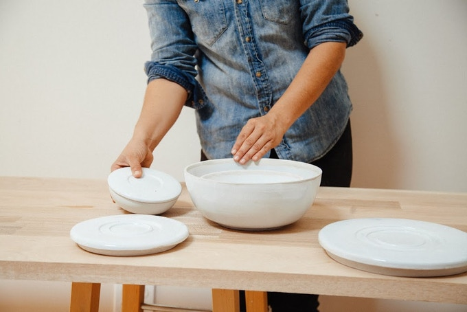 Set of three Nesting Covered Bowls: $200 reward level