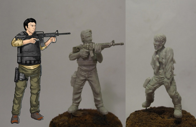 The Lover's (Him) - Concept, Master Sculpt, Zombie Sculpt