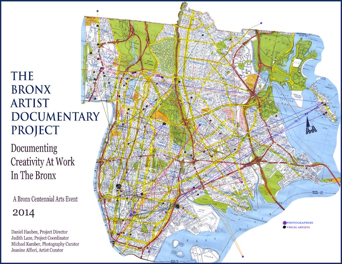 The Map: The BxADP is fostering connections beween artists living in different areas of The Bronx, strengthening the arts community and encouraging cross-borough collaborations