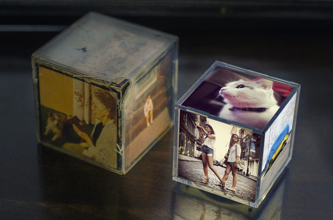 Original 1970's photo cube & Cubee