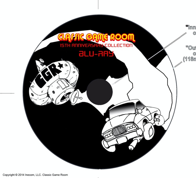 Rough art for Blu-Ray disc design.