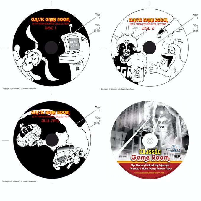 Rough 4-disc layout for the Special Edition Hyper-Laser-Vision set tray.