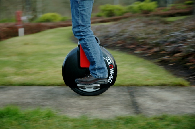 Part of the inspiration, the Solowheel, a motorized unicycle.