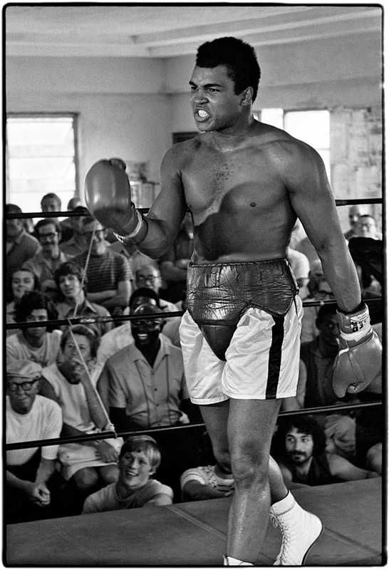 Muhammad Ali in the ring at the Fifth Street Gym